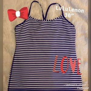 Lululemon athletica sports tank top blue stripes